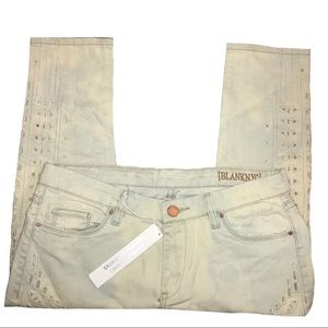 NWT BlankNYC Skinny Classique Jeans 29 Embroidered